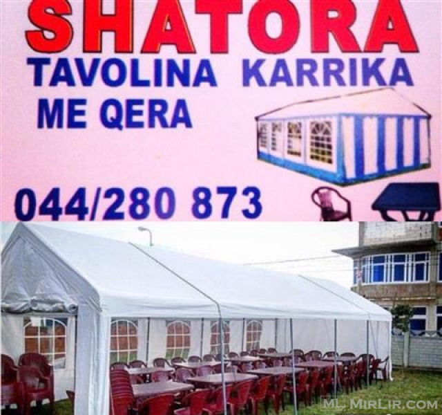 TENDA SHATORA KARRIKA TAVOLINA ME QERA 044280873