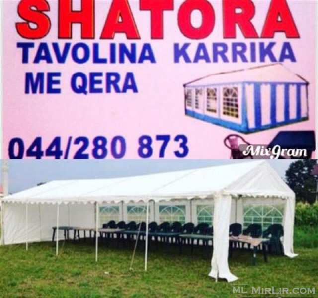 SHATORA TENDA KARRIKA TAVOLINA ME QERA 044280873